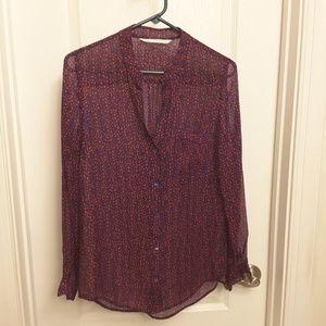 DIANEvonFURSTENBERG 100%silk blouse size M